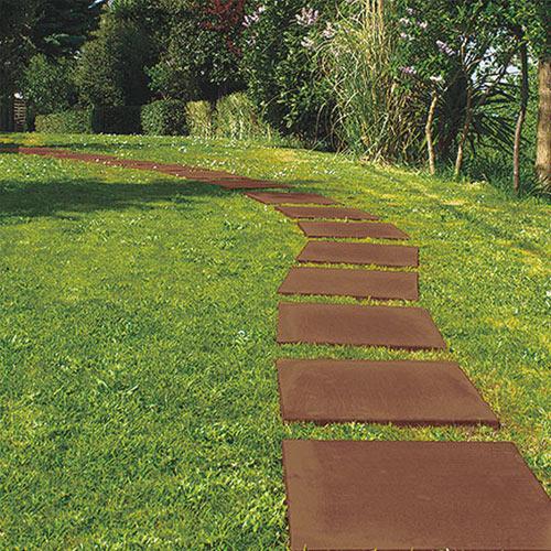 Pavimentazione giardino corten il sistema di piastrelle paso - Piastrelle x giardino ...