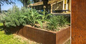 bordure giardino acciaio corten