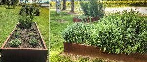 bordure giardino di forma rettangolare