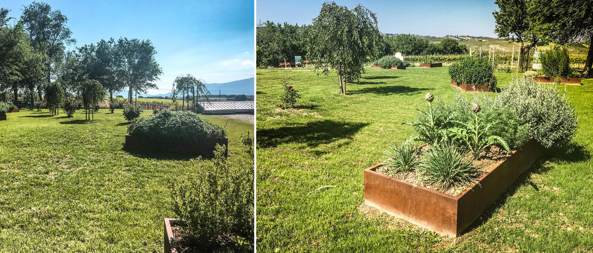 Bordure Giardino All Azienda Agricola Mapei Un Percorso
