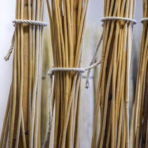 fascina in vimini con corde in canapa