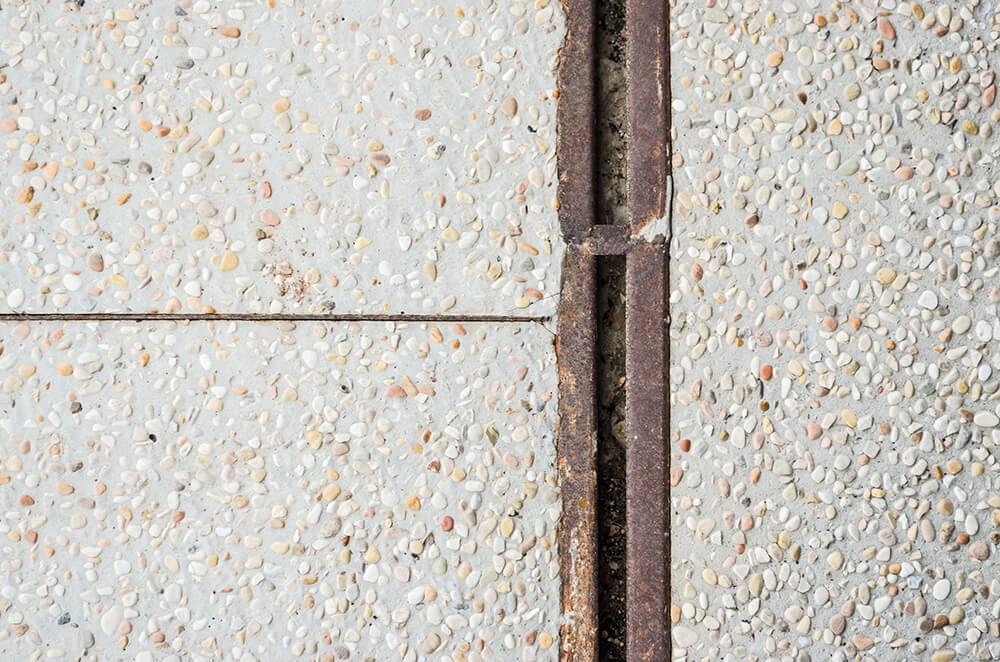 corten steal channel drains