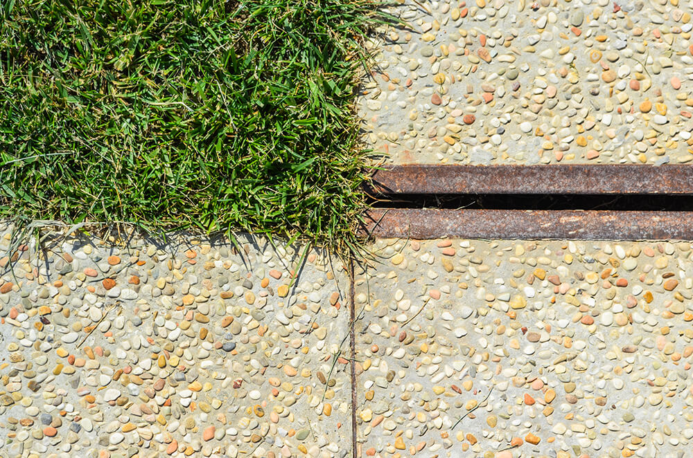 channel drains in corten steel