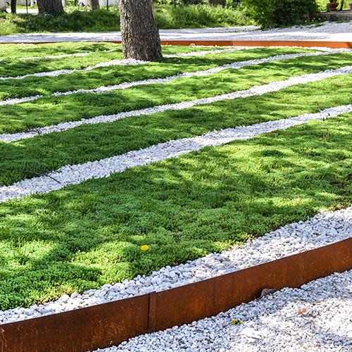 Bordure giardino in corten