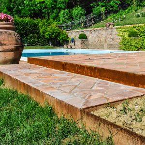 bordure giardino in acciaio corten
