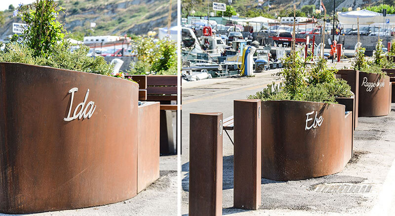 anti-terror barriers are made in the Port of Numana
